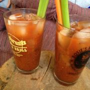 Green chilie bloody Mary's
