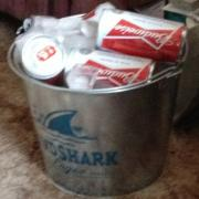 Our bucket of 8oz Budweiser