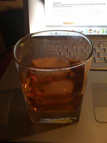 Amaretto on the rocks