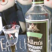 Allen's Peppermint Schnapps 101 proof
